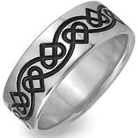 Titanium Celtic Heart Ring