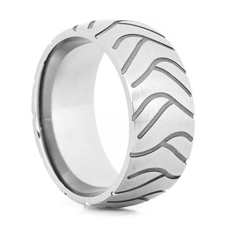 Men's Titanium Super Cycle Motorcycle Ring
