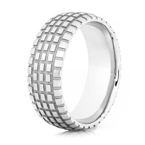 Men's Titanium Dirt Bike Wedding Ring
