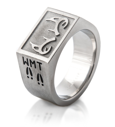 Men's Titanium Deer Antler Signet Ring
