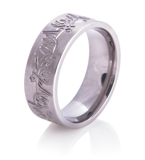 Men's Carved Deer Rack Ring