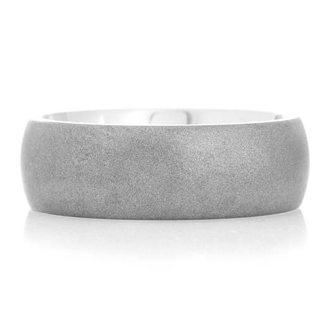 Men's Dome Profile Gunmetal Titanium Ring
