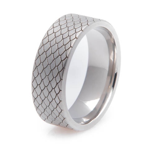 Titanium Dragon Scale Ring