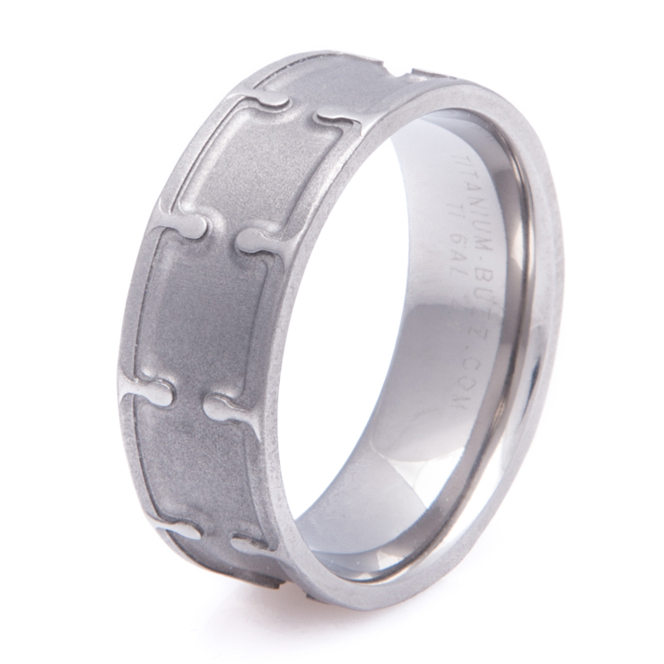 Men's Titanium Snare Drum Ring