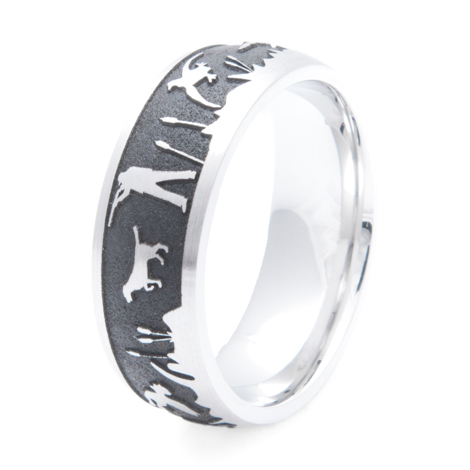 Men's Cobalt Chrome Duck Hunter's Dream Ring