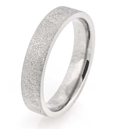 Flat Profile Arctic Titanium Ring