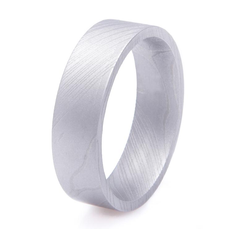 Men's Gunmetal Damascus Steel Ring
