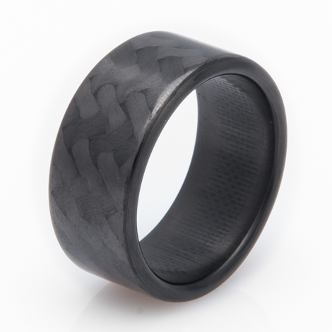 Men's Forty Five Black Carbon Fiber Ring