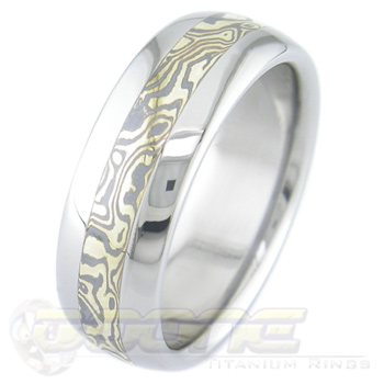 Gold and Silver Mokume Gane Wedding Band