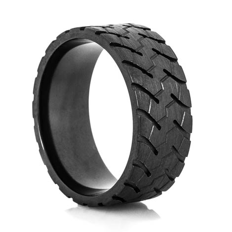 Men's Black Goodyear RM4A OTR Tire Tread Ring