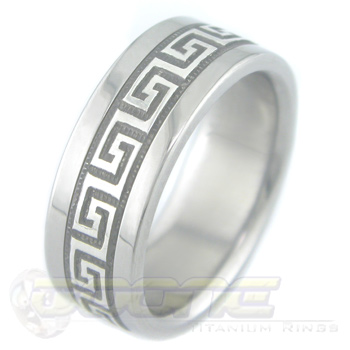 Greek Key Silver Ring