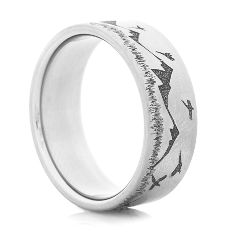 Men's Titanium Grouse Hunter Ring