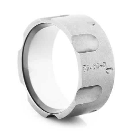 Men's Gunmetal Titanium Revolver Ring