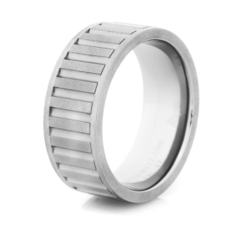 Men's Gunmetal Titanium Spinner Ring