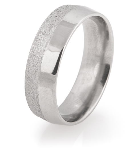 Men's Half-and-Half Titanium Arctic Peak Ring