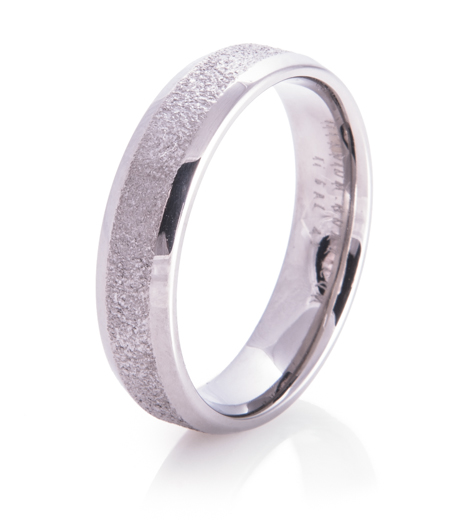 Icy Path Arctic Series Titanium Wedding Ring