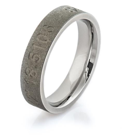 Cobalt Latitude and Longitude Ring