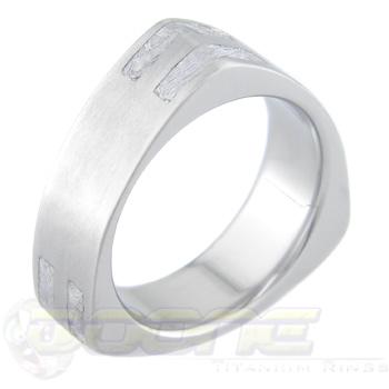 Men's Rotor-Style Titanium Gibeon Meteorite Ring