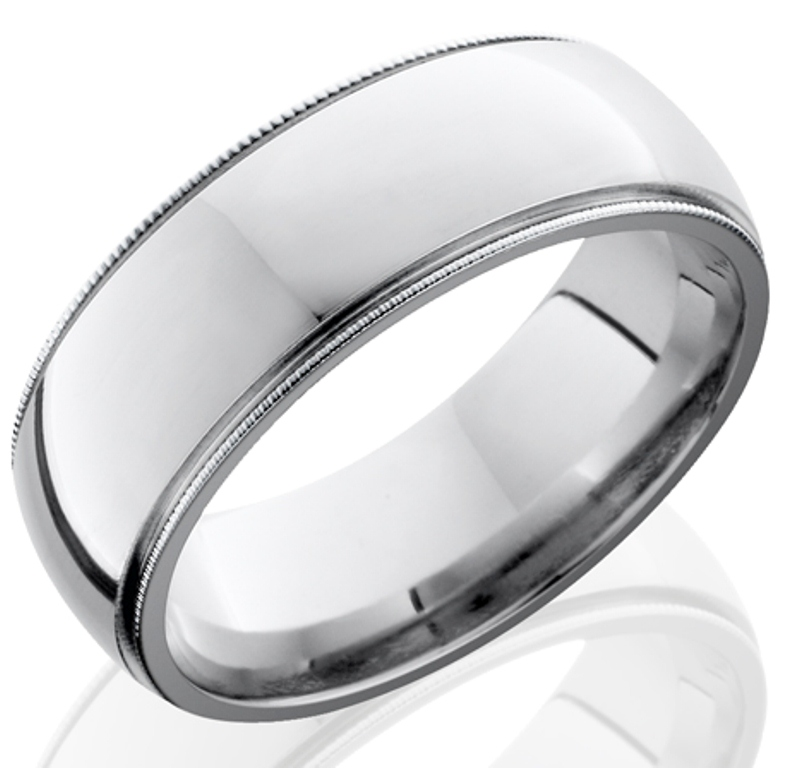 Men's Milled Edge Cobalt Chrome Wedding Band