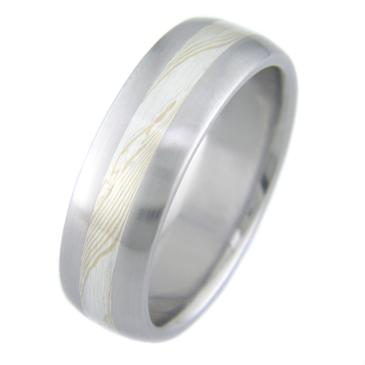Gold and Silver Twist Mokume Gane Ring