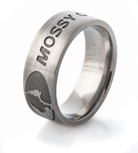 Mossy Oak Logo Ring-Carved