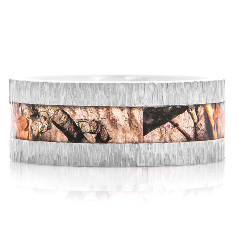 Men's Titanium Mossy Oak Treestand Camo Ring