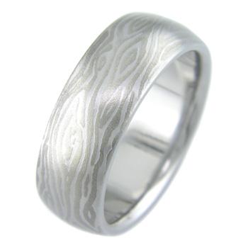 Mokumanium Wood Grain Ring