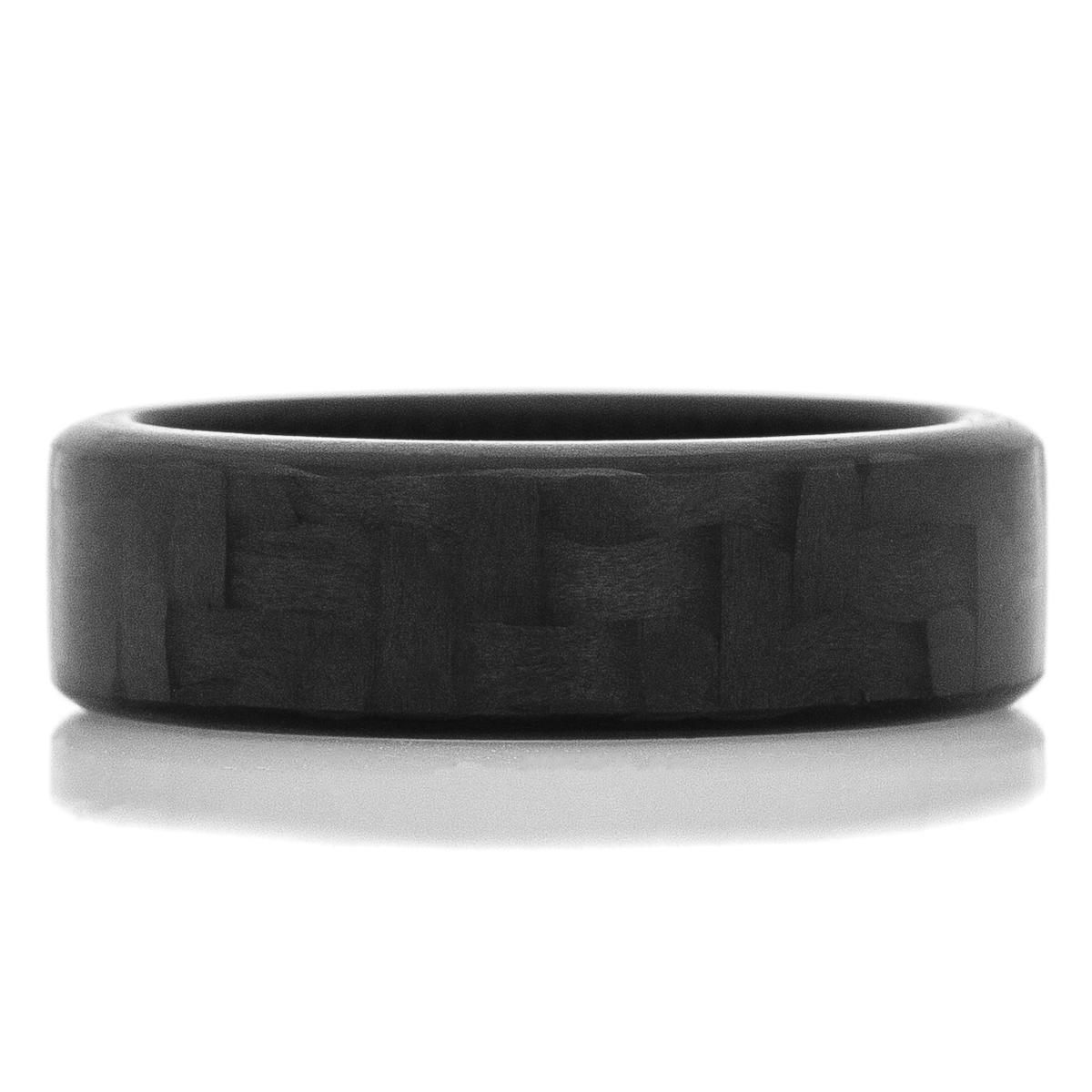 Men's Black Carbon Fiber Ring Narrow Endurance Finish