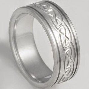 Natural Titanium Celtic Band