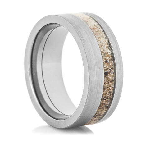 Offset Deer Antler Ring