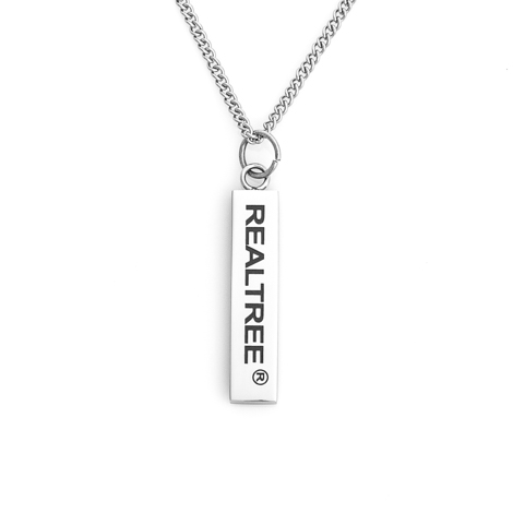 Realtree Pendant Bar Necklace