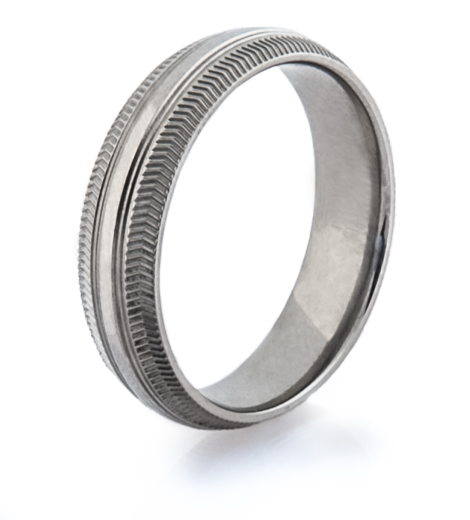 Men's Titanium Road Bike Wedding Ring