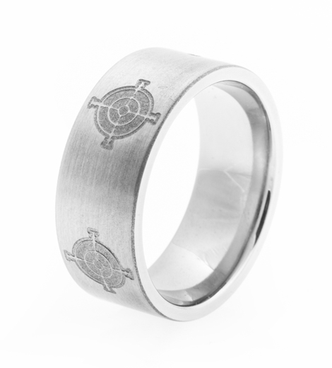 Men's Titanium Sharpshooter Ring