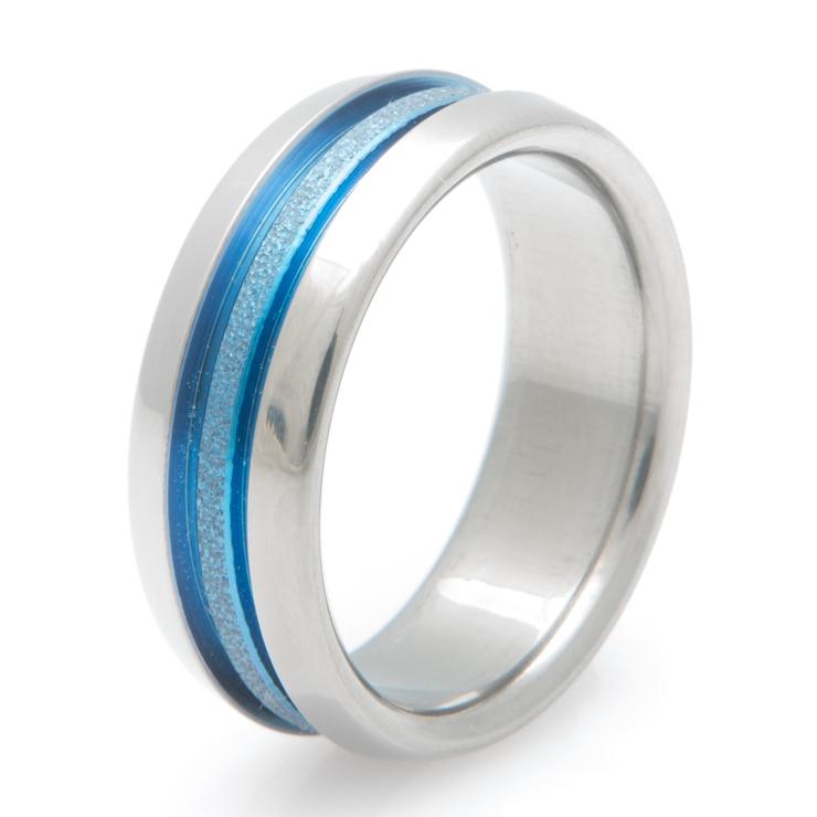 Titanium Deep Blue Band