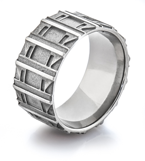 Men's Titanium Tank Tread Band