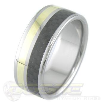 Titanium and Carbon Fiber with Gold