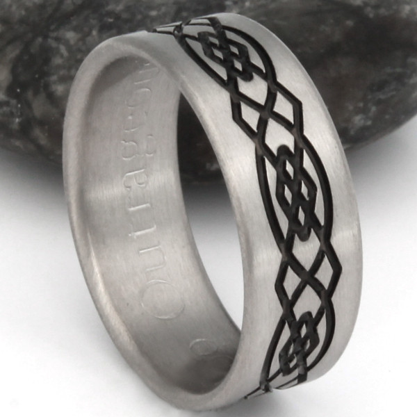 Titanium Celtic Knots Ring