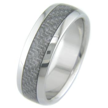 Men's Gunmetal Titanium and Carbon Fiber Ring