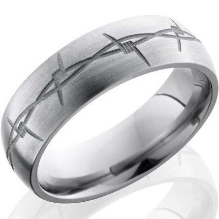 Titanium Barbwire Ring