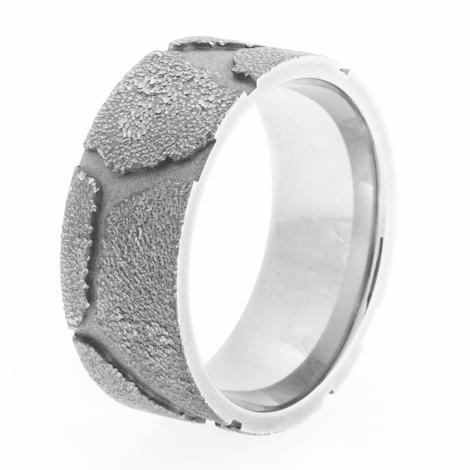 Men's Titanium Gravel Road Ring