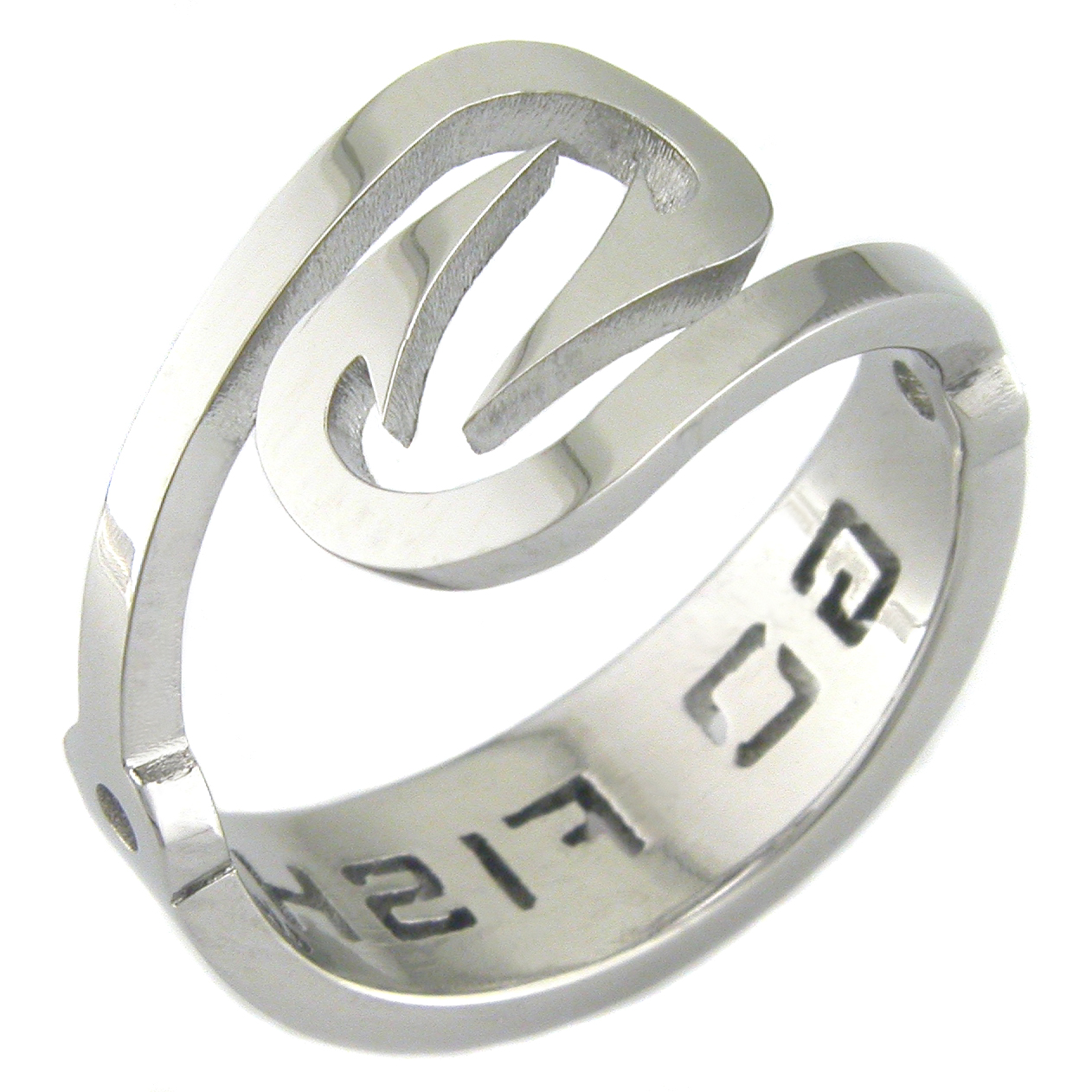 "Men's Titanium ""Go Fish"" Hook Ring"