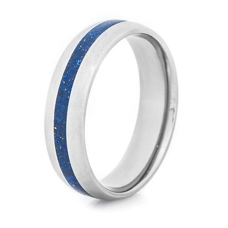 Titanium Blue Lapis Ring
