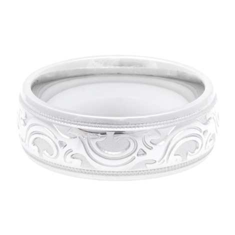 Men's Cobalt Stampede Country Wedding Ring