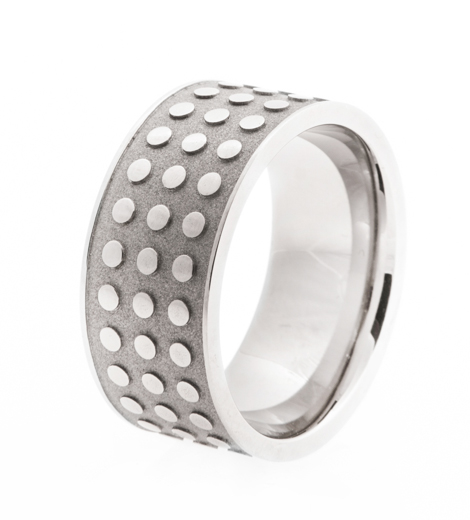 Men's Studded Titanium Ring