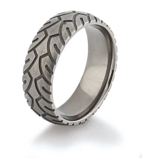 Men's Titanium Motorcycle Ring