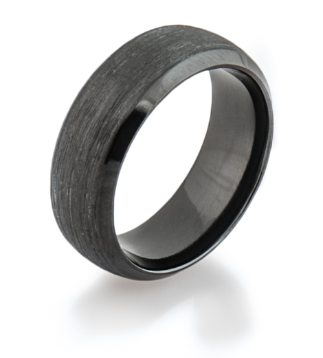 Traditional Black Wedding Band