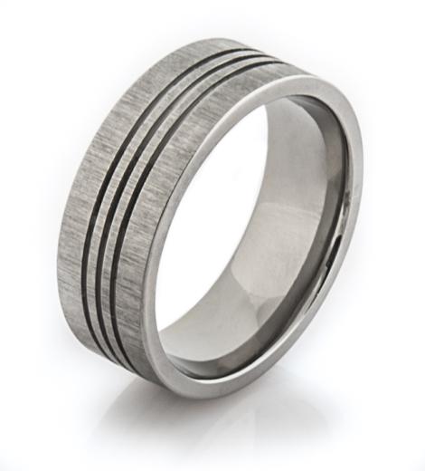 Men's Triple Groove Titanium Ring