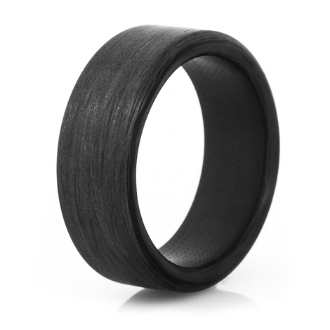 The Sidewinder Carbon Fiber Wedding Ring