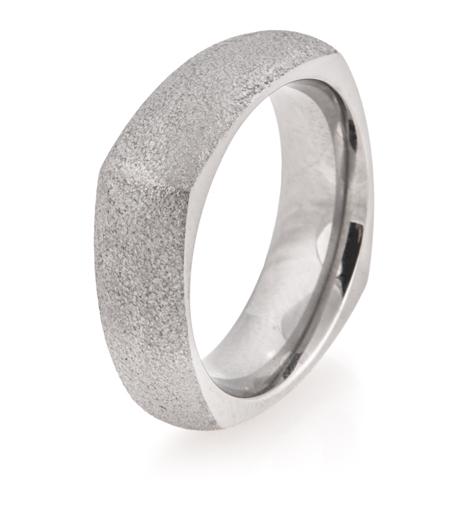 Dome Profile Square Arctic Titanium Ring