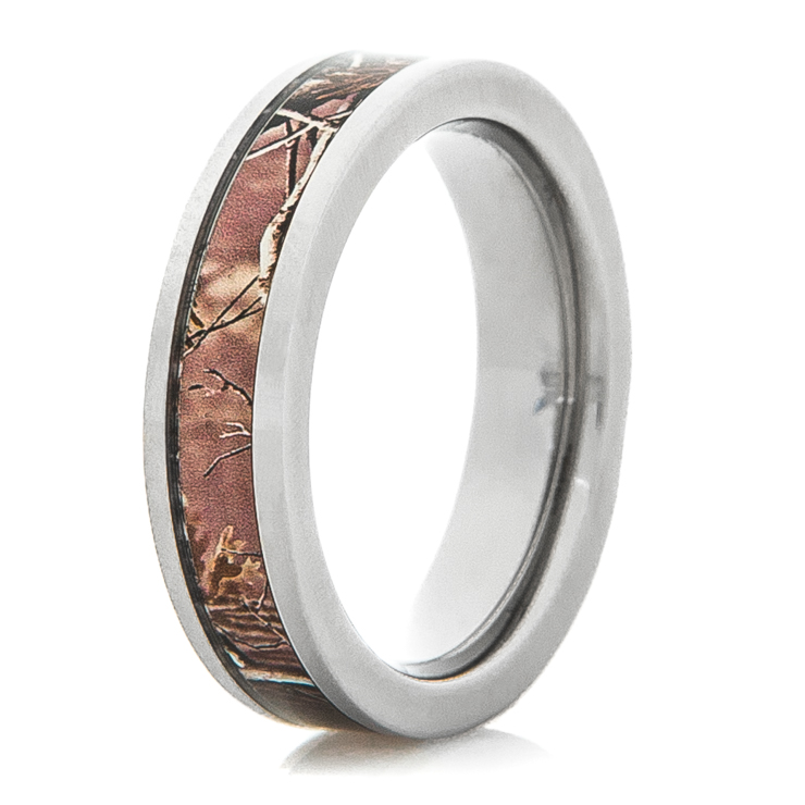 Women's Titanium Camo Ring